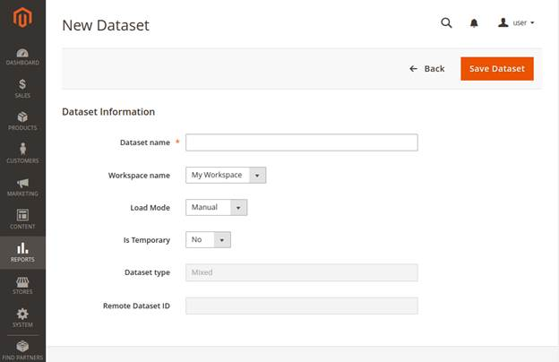 Dataset creation form