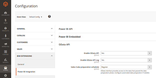 OData API Configuration for Magento Platform