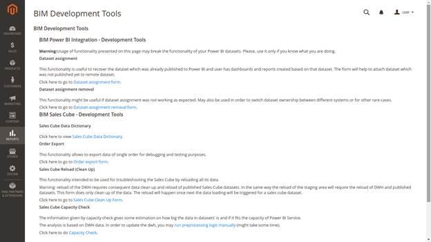 Dev Tools page